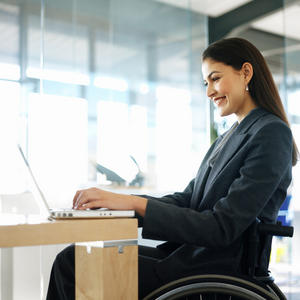 Woman executive in wheelchair