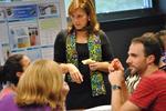 CAWP Director, Dr. Julie Schappe, addresses Penn State Harrisburg's graduate teachers and CAWP fellows